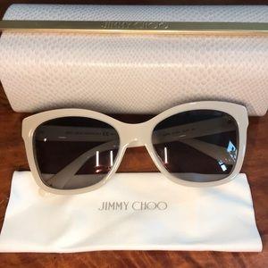Jimmy choo Mimi/s sunglasses crystal off white